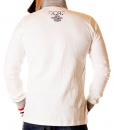 Aeronautica Militare Long Sleeve Polos - Long Sleeve Polo Shirt Centro - White
