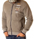 Aeronautica Militare Zip Hoodies - Zip Hoodie Multi Crew Grey - price €58.00 - on special price only in RefoStore with great discount: - 66%