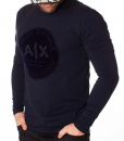 Armani Sweaters - Exchange Long Sleeve T-shirt - Navy Blue - price €42.00 - on special price only in RefoStore with great discount: - 70%