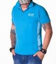 Armani Short Sleeve Polos - Emporio Blue Polo - price €45.00 - on special price only in RefoStore with great discount: - 68%