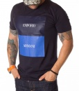 Armani Crew Neck T-shirts - T-shirt Emporio EA - Navy - price €38.00 - on special price only in RefoStore with great discount: - 46%