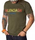 Balenciaga Crew Neck T-shirts - T-Shirt Paris 2018 - Green - price €60.00 - on special price only in RefoStore with great discount: - 67%