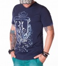 Billionaire Crew Neck T-shirts - Crown T-Shirt - Navy - price €45.00 - on special price only in RefoStore with great discount: - 50%