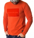 Calvin Klein Sweaters - Long Sleeve Velor Print T-shirt - Orange - price €38.00 - on special price only in RefoStore with great discount: - 60%