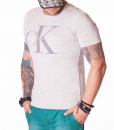 Calvin Klein Crew Neck T-shirts - CK Jeans Summer T-Shirt - Grey - price €39.00 - on special price only in RefoStore with great discount: - 57%