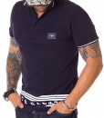 Short Sleeve Polos - Polo Shirt Navy Blue Classic SS19