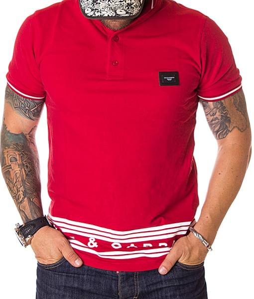 Dolce & Gabbana Short Sleeve Polos - Red Polo Shirt Classic SS19