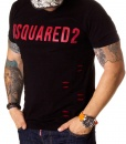 Dsquared Crew Neck T-shirts - Ripped T-shirt DSQ2 - Black - price €45.00 - on special price only in RefoStore with great discount: - 68%
