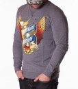 Sweaters - Sweater Eagle Print - Grey