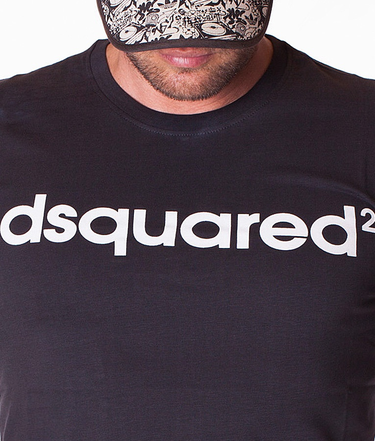 dsquared dsquared 2 t shirt black crew neck t shirts t shirts refostore. Black Bedroom Furniture Sets. Home Design Ideas