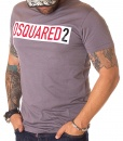 Dsquared Crew Neck T-shirts - T-shirt Paper Logo DSQ2 Grey - price €45.00 - on special price only in RefoStore with great discount: - 63%