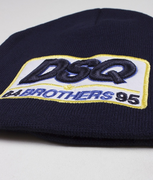 Dsquared Hats - Winter Hat DSQ Brothers - Navy