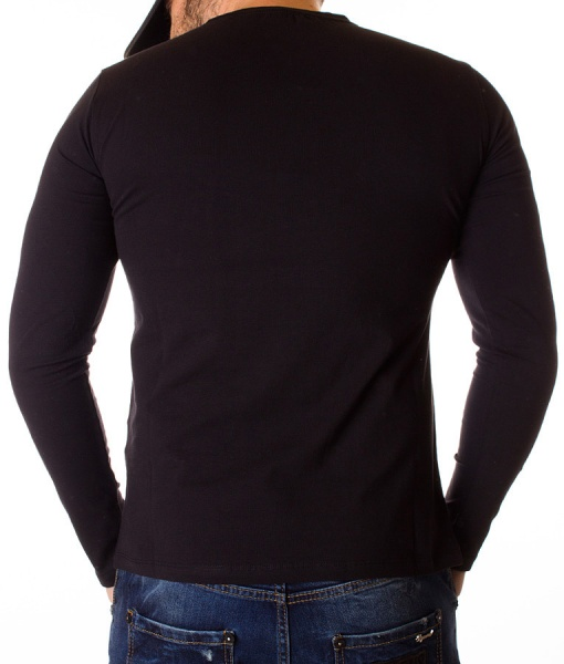 Givenchy Sweaters - Long Sleeve T-shirt Paris - Black
