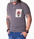 Gucci Short Sleeve Polos -  Orchid Grey Polo - price €75.00 - on special price only in RefoStore with great discount: - 63%