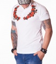 Gucci Short Sleeve Polos - Wreath White polo - price €75.00 - on special price only in RefoStore with great discount: - 63%