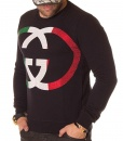 Gucci Sweaters - Sweater Big Logo - Black - price €65.00 - on special price only in RefoStore with great discount: - 66%