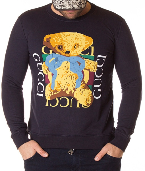 Gucci Sweaters - Sweater Cute Bear Navy Blue