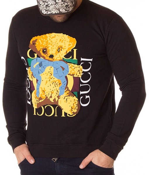Gucci Sweaters - Winter Sweater Cute Bear Black