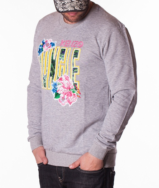 Kenzo Sweaters - Jumper Jungle Flowers - Grey