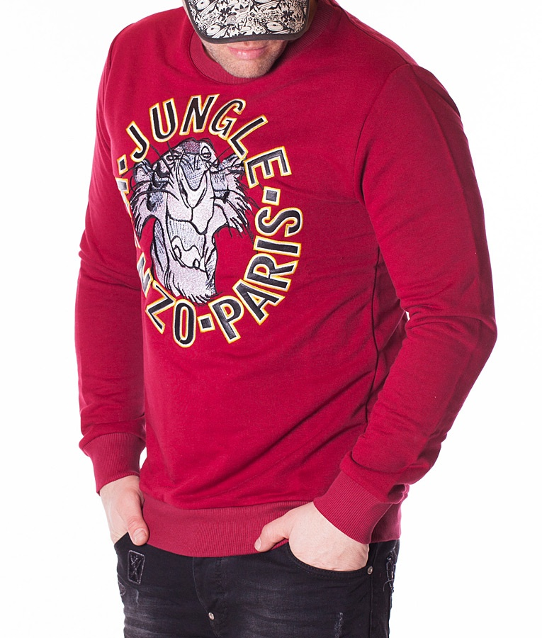 kenzo jumper jungle paris red jumpers sweaters jumpers