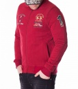 La Martina Zip Hoodies - Hoodie Varsity Supplier - Red - price €60.00 - on special price only in RefoStore with great discount: - 67%