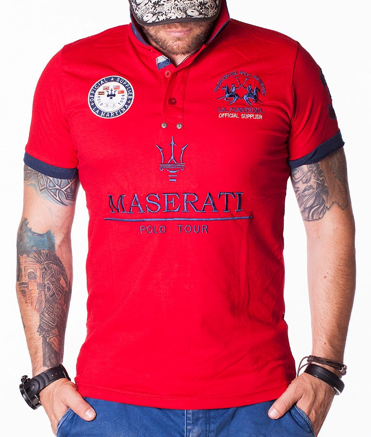 la martina maserati official red polo short sleeve polos polo shirts refostore. Black Bedroom Furniture Sets. Home Design Ideas