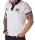 La Martina Short Sleeve Polos - Maserati Polotour Polo Shirt - White - price €60.00 - on special price only in RefoStore with great discount: - 65%