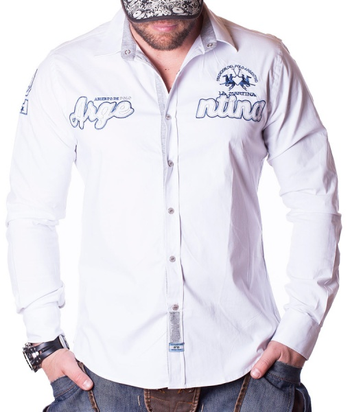 La Martina Long Sleeve Shirts - Asierto De Polo Shirt - White