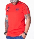 La Martina Crew Neck T-shirts - Maserati Polo Team Red T-shirt - price €48.00 - on special price only in RefoStore with great discount: - 64%