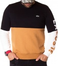 Lacoste Sweaters - Two-Tone Winter Sweater Black - Camel