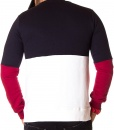 Lacoste Sweaters - Two-Tone Winter Sweater Navy Blue - White