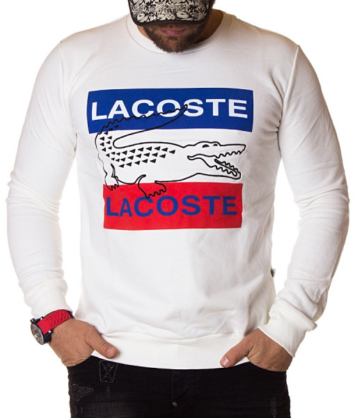 Lacoste Sweaters - Winter Sweater Big Logo - White