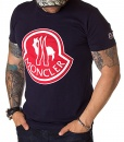Moncler Crew Neck T-shirts - T-shirt Printed Logo SS19 - Navy Blue - price €50.00 - on special price only in RefoStore with great discount: - 67%