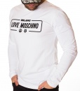 Moschino Sweaters - Long Sleeve T-shirt Milano - White - price €45.00 - on special price only in RefoStore with great discount: - 68%