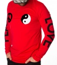 Moschino Sweaters - Long Sleeve T-shirt Peace Love - Red - price €42.00 - on special price only in RefoStore with great discount: - 70%