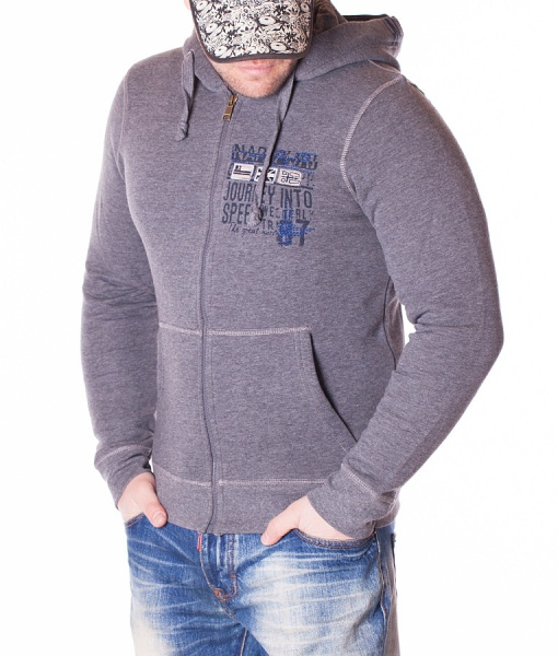 Napapijri Overhead Hoodies - Hoodie Into Speed - Grey