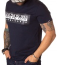 Crew Neck T-shirts - T-shirt Geographic Navy Blue SS19