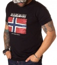 Napapijri Crew Neck T-shirts - T-shirt GPS-ET Norway Black - price €38.00 - on special price only in RefoStore with great discount: - 60%