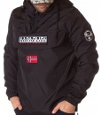 Napapijri Overhead Hoodies - Winter Overhead Hoddie With Front Pocket Black - price €89.00 - on special price only in RefoStore with great discount: - 74%