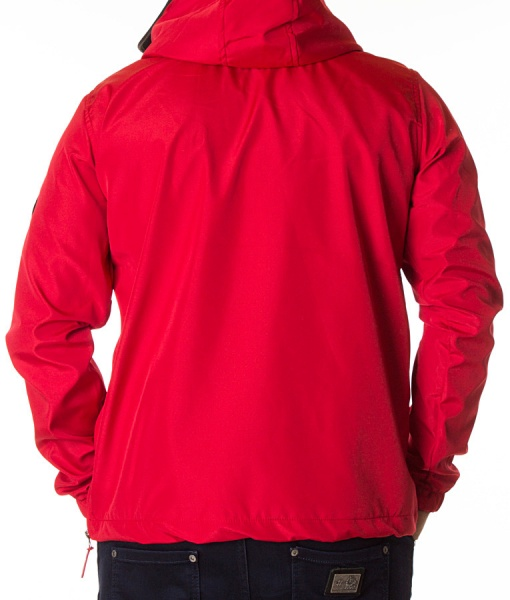 Napapijri Overhead Hoodies - Winter Overhead Hoddie With Front Pocket Red