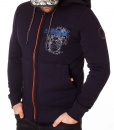 Zip Hoodies - Zipped Hoodie North West Highway - Navy Blue