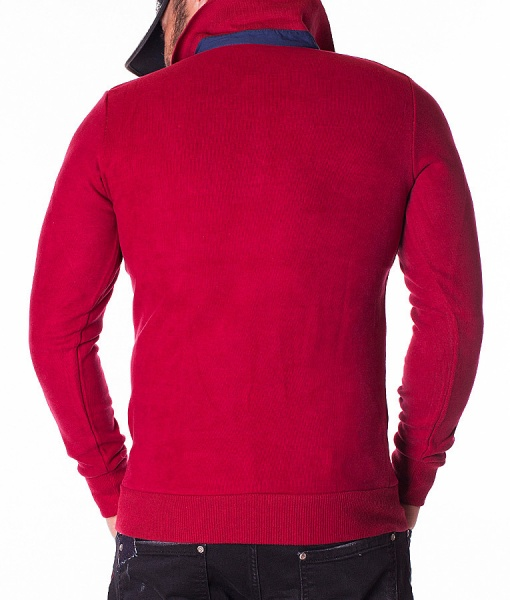 Paul & Shark Long Sleeve Polos - Polo Shirt Yachting Ocean Team - Red