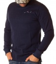 Jumpers - Crew Neck Knit - Navy