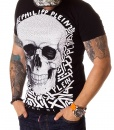 Philipp Plein Crew Neck T-shirts - Black T-shirt Aztec Skull - price €55.00 - on special price only in RefoStore with great discount: - 74%