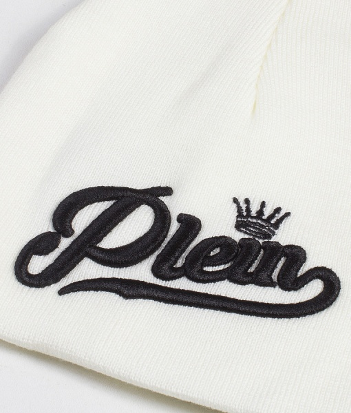 Philipp Plein Hats - Crown Winter Hat AW19 - White