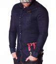 Philipp Plein Long Sleeve Shirts - Shirt Expelt The Unexpelted - Navy - price €89.00 - on special price only in RefoStore with great discount: - 74%