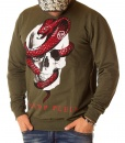 Philipp Plein Sweaters - Green Viper Sweater - price €60.00 - on special price only in RefoStore with great discount: - 76%