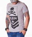 Philipp Plein Crew Neck T-shirts - PP Skull T-shirt - Grey #1506 - price €55.00 - on special price only in RefoStore with great discount: - 66%