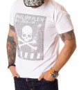 Philipp Plein Crew Neck T-shirts - White T-shirt Frame 001-2018 - price €55.00 - on special price only in RefoStore with great discount: - 74%