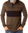 Ralph Lauren Long Sleeve Polos - Long Sleeve Polo Shirt Striped - Green
